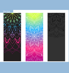 Design yoga mat elements mandala oriental vector