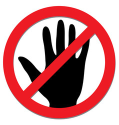 Do not touch sign for coronavirus concept vector