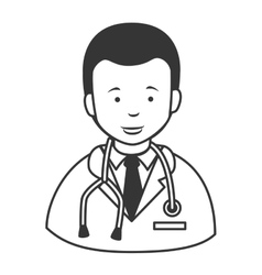 Doctor stethscope profile icon vector image
