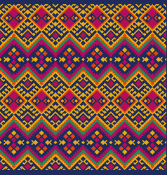 Ethnic mexican peruvian pattern with geometric vector