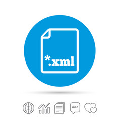 File document icon download xml button vector