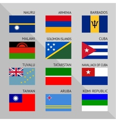 Flags of world flat Set number 13 vector image