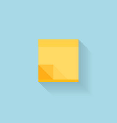 Flat web internet icon Yellow sticky notes paper vector image