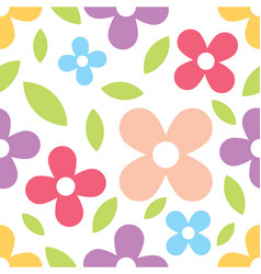 flower and daisy seamless texture vector image