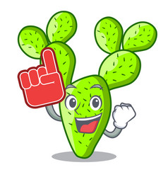 Foam finger cartoon the prickly pear opuntia vector