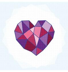geometry heart vector image