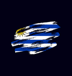 Grunge textured uruguayan flag vector