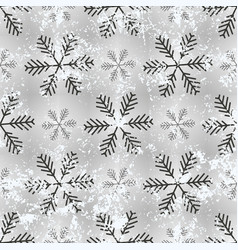 holiday seamless background with snowflakes old vector image