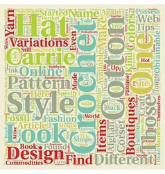 Hot Tips on Different Kinds of Carrie Crochet text vector