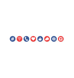 internet web social media icons set vector image