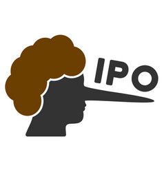 ipo lier flat icon vector image