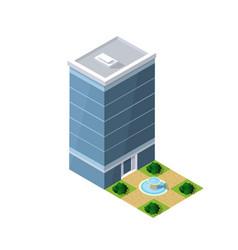 isometric house urban vector image