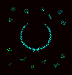 laurel wreath - symbol graphic elements for your vector image