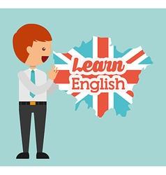 learn english design vector image