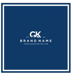 Letter ck mountain logo design vector