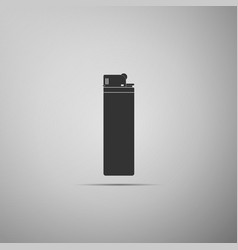 lighter icon isolated on grey background vector image