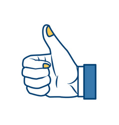like hand symbol pop art vector image