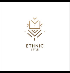 logo geometric elements template squire vector image