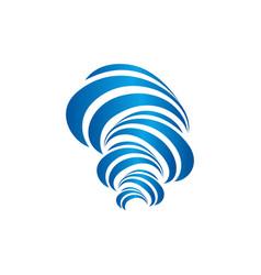 Logo isolated icon hurricane logo vector