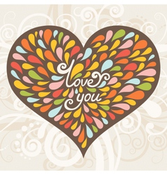 Love greeting card vector image