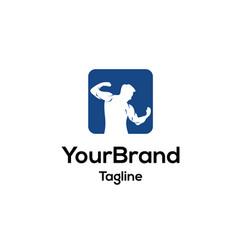 man sport logo template vector image