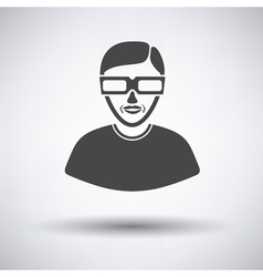 Man with 3d glasses icon vector image