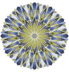 mandala blueyellow vector image
