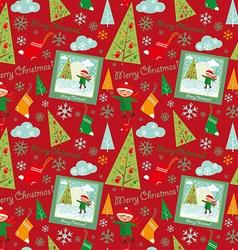 merry christmas pattern boys vector image