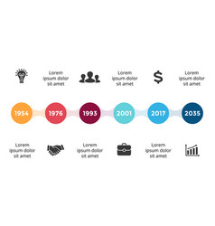 Metaball timeline infographic diagram vector