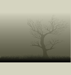 Misty night vector