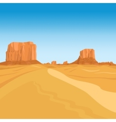 Mountains desert landscape background vector