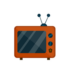 old retro vintage tv flat cartoon vector image