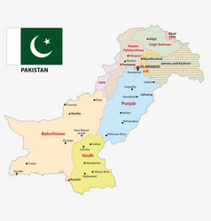Pakistan administrative and political map vector