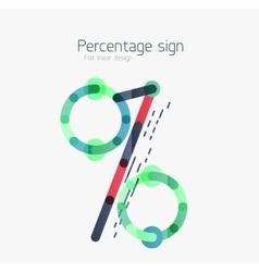 Percentage sign background vector image