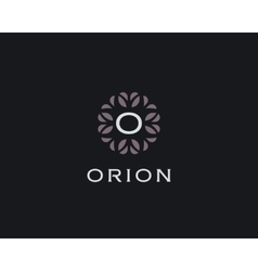 Premium monogram letter O initials logo Universal vector