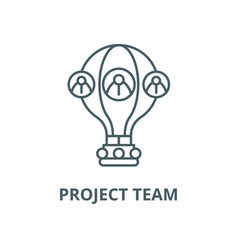 project team line icon linear concept vector image