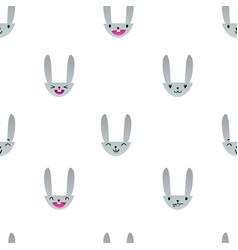 Rabbit emoticons pattern-09 vector