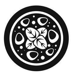 salami meat pizza icon simple style vector image