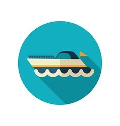 Ship Boat flat icon Summer Vacation vector