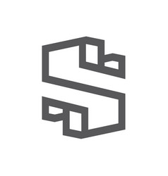 sign of the letter s vector image
