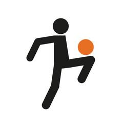 Simple football soccer juggling sport figure vector