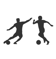 Soccer players silhouettes isolated over white vector image