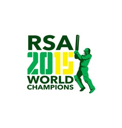 South Africa SA Cricket 2015 World Champions vector