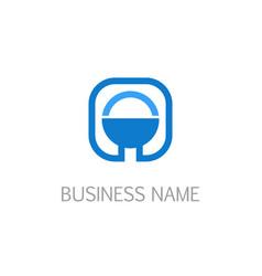 square icon logo vector image