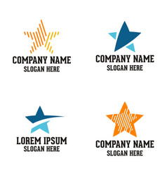 star logo design vector image