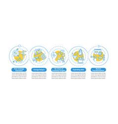 strategic factors infographic template vector image