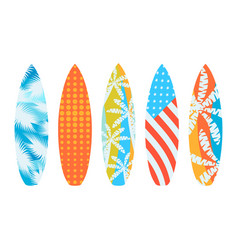 surfboards on a white background types vector image