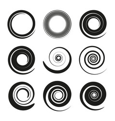 swirling icons vector image