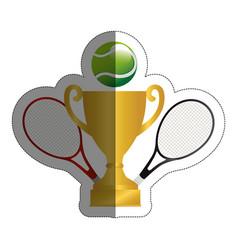 tennis sport design vector image
