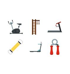 training aparat icon set flat style vector image